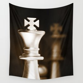 Chess-Sliver King Wall Tapestry