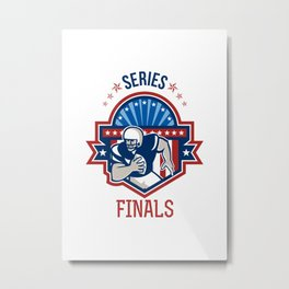 American Football QB Series Finals Crest Metal Print