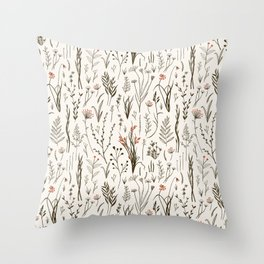 Wild Grasses Throw Pillow