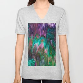 Colorful wild enigma flowing colors Unisex V-Neck
