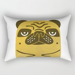 Serious Pug Rectangular Pillow