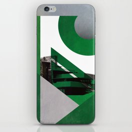 Green Abstract Building iPhone Skin