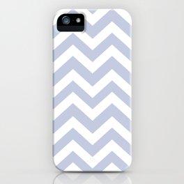 Light periwinkle - heavenly color - Zigzag Chevron Pattern iPhone Case