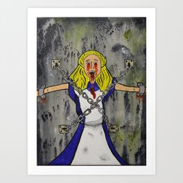 Alice Bound In Chains Art Print