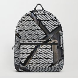 Background pattern winter stud tire Backpack