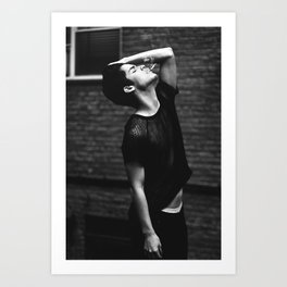 Beautiful trapped in a black and white soul Art Print