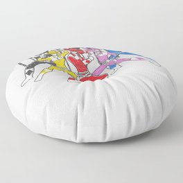 Mighty Morphing Lone Rangers Floor Pillow