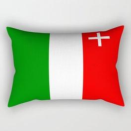 Neuchatel region switzerland country flag swiss Rectangular Pillow