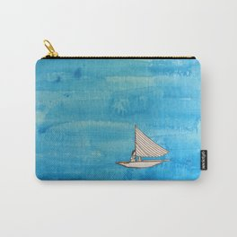 Liz on a Boat Carry-All Pouch