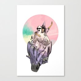 ghost witch summer Canvas Print