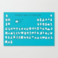 chemistry Canvas Prints featuring Monstrous Chemistry by maudie&ma