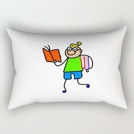 Nerdy Boy Rectangular Pillow