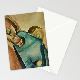 Rock Climbing Belay Device and Carabiner Stationery Cards