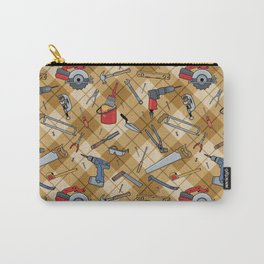 Household Tools Plaid Carry-All Pouch