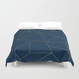 Golden Crystal Web Pattern Duvet Cover