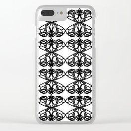 Luxury mandalas black on white Clear iPhone Case