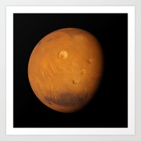 mars Art Prints featuring Mars by Space99