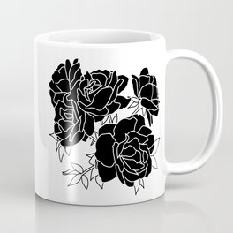 Flower Cluster // Black Coffee Mug