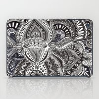 zentangle iPad Cases featuring zentangle by paucarbajal