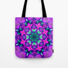 Floral Whirl Tote Bag