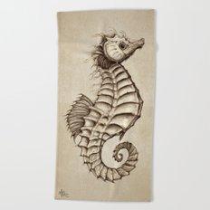 Fantasy Seahorse ~ Vintage Beach Towel