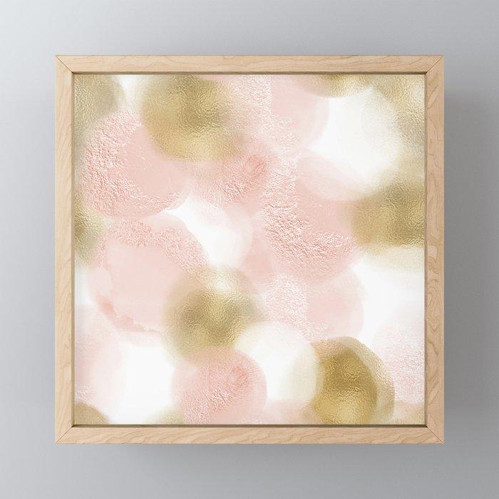 Rose Gold and Gold Blush Framed Mini Art Print