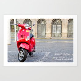 Sevillian Moped Art Print
