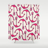 anchors Shower Curtains featuring Anchors by Anne Waters