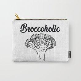 Broccoholic - Vegan - Vegeterian - Broccoli - Vegan quote Carry-All Pouch