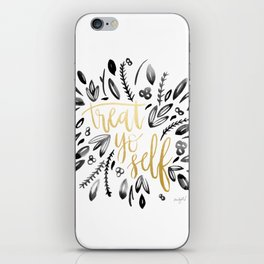 Treat Yo Self Gold iPhone Skin