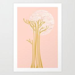 New Beginnings - Pink & Gold Art Print