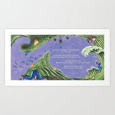 POEM OF MONSTERS Art Print