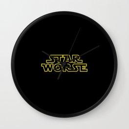 Star Worse Wall Clock
