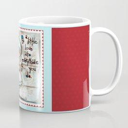 Made with Love - Heart String Tugger Coffee Mug