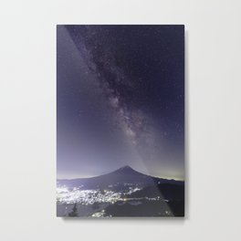 Mt. Fuji with the Milky Way Metal Print