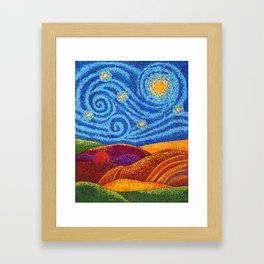 Grounding Hills Framed Art Print