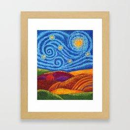 Grounding Hills Framed Art Print