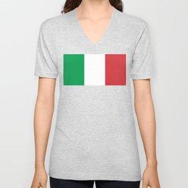 National Flag of Italy, High Quality Image Unisex V-Neck