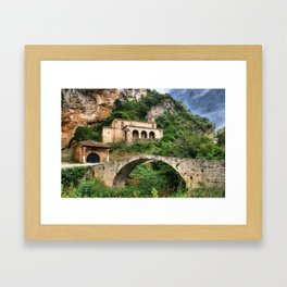 Santa Maria de la Hoz in Tobera, Frias Framed Art Print