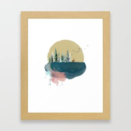 Forest on the moon... Framed Art Print