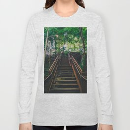 Stairs of Summer and Adventure Long Sleeve T-shirt