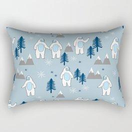 Yeti winter christmas cute forest pattern kids nursery holiday gifts Rectangular Pillow