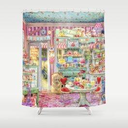 The Little Cake Shop Shower Curtain