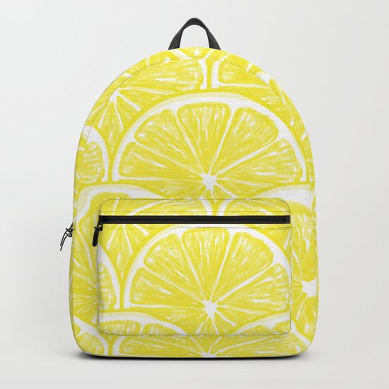 Lemon slices pattern design II Backpack