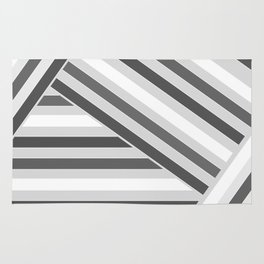 Grey -white stripes Rug