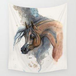 Arabian horse portrait Wall Tapestry