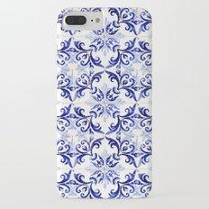 blue tile pattern VI - Azulejos, Portuguese tiles iPhone 7 Plus Slim Case