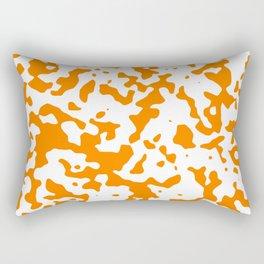 Spots - White and Orange Rectangular Pillow