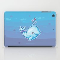 polkadot iPad Cases featuring PolkaDot Whale by Byte Size Treasure