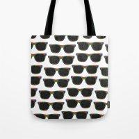sunglasses Tote Bags featuring Sunglasses by Luna Portnoi